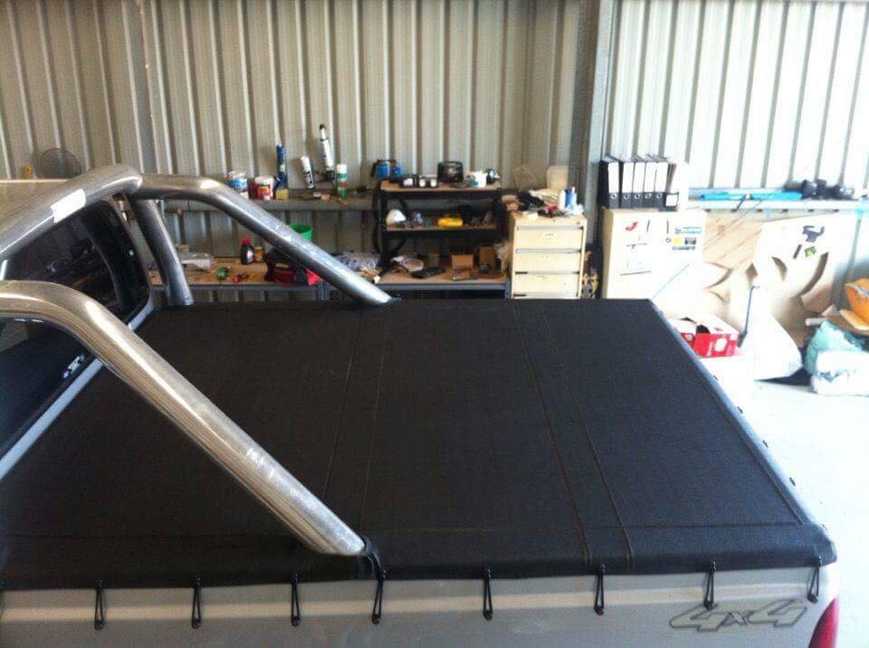 Ute tray cover by Robbos Custom Upholstery. Gallery image
